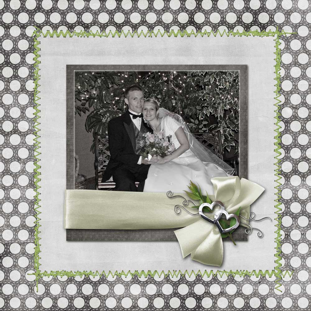 Diy Wedding Album Ideas: Recent Scrapbook Pages: Last Few Wedding Pages