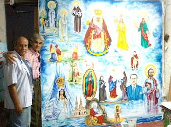 Detalle del mural para la Iglesia de Lezama (Virgenes y Santos)