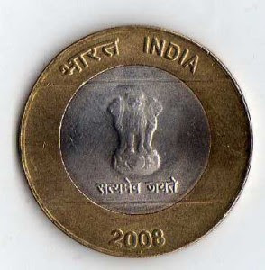 10 Rupees Indian Coin
