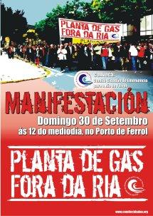Manifestación 30 de Setembro de 2007, contra REGANOSA