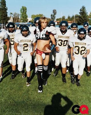 Sacha Baron Cohen aka Bruno, re-created the Jennifer Aniston GQ cover shot