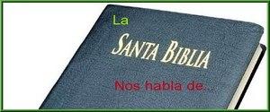 La Biblia nos habla de...