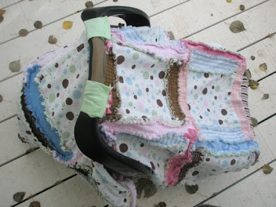 polka dot car seat tent