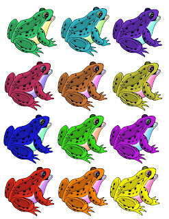printable frog cut out