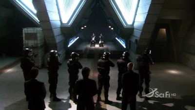Execution of Tom Zarek and Lt Felix Gaeta on Battlestar Galactica