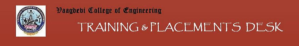 Vaagdevi College Of Engineering Training & Placements Info