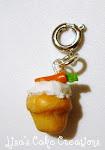 Carrot Cupcake Charm