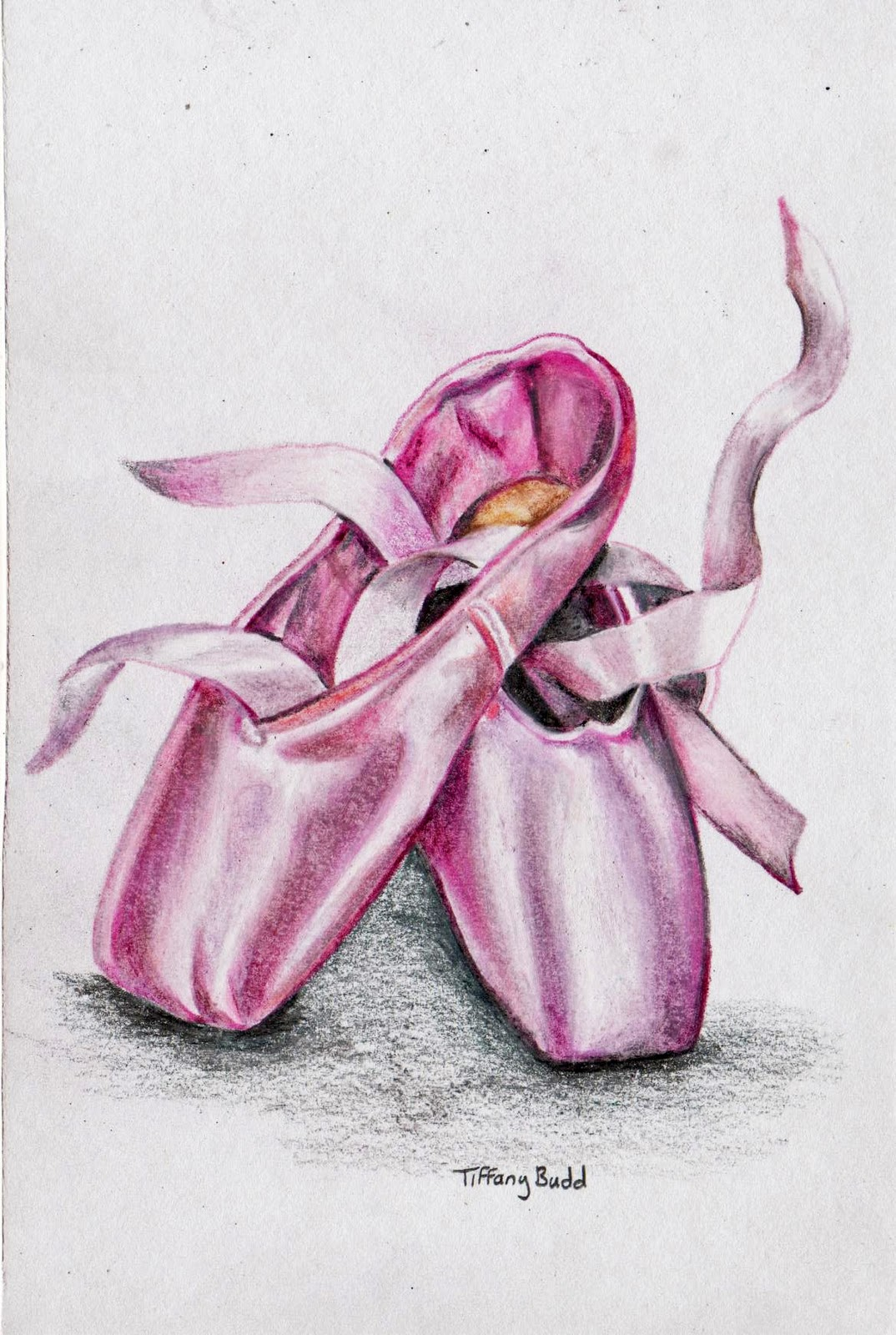 Pencil Drawing Of A Ballerina Shoes | www.imgkid.com - The ...