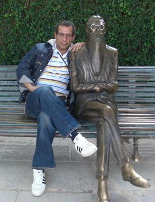 Con mi socio Valle Inclán