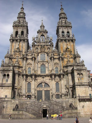 Fachada principal de la catedral de Santiago de Compostela