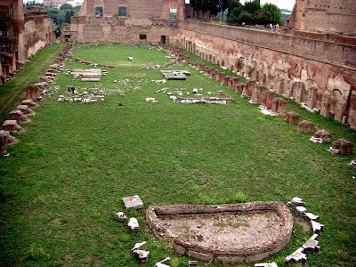 Estadio Palatino, jardín privado de los emperadores.