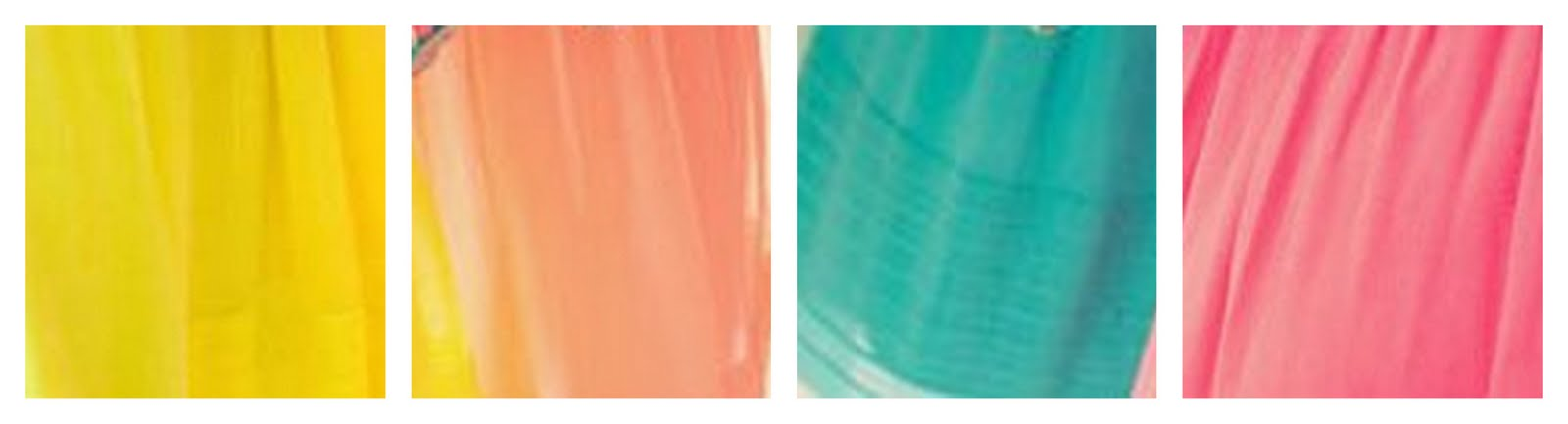 Colour Inspiration Spring Pastels Yellow Coral Teal Pink