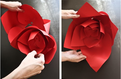 Always andri wedding design blog diy giant paper flowers for more unique table centre ideas check out enchanted dream wedding affairs here where i originally saw these fab paper flowers mightylinksfo