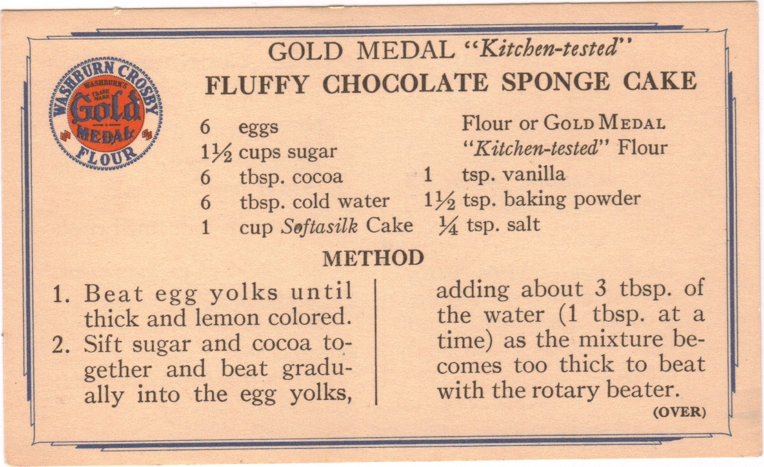 The found recipe box sharing the love fluffy chocolate for Chocolate sponge ingredients