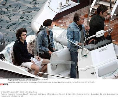 Joseph Danilo Jacoviello Roberto Cavalli Rachele Cavalli yacht