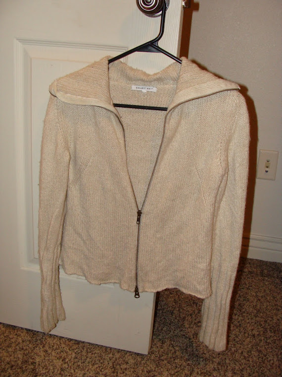 Tan Zip up sweater Really warm