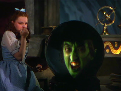 Wizard of Oz:  Dorothy looks into the crystal ball