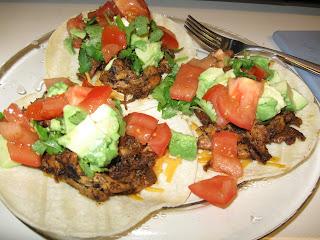 loaded chicken tacos