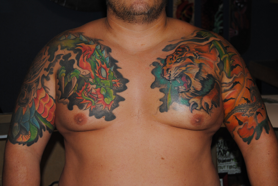 Raphael gere rodriguez october 2010 for Chest mural tattoos