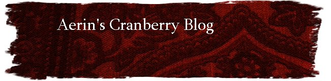 Aerin's Cranberry Blog