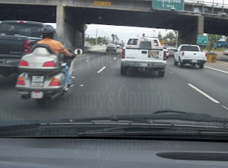 Motorcycle Riding The White Line