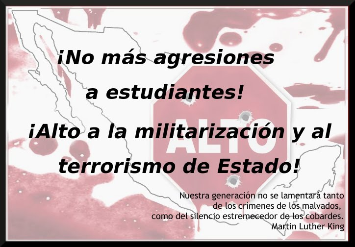 Contra la militarización y la violencia