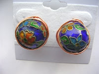Wire wrapped stud earrings by Linda