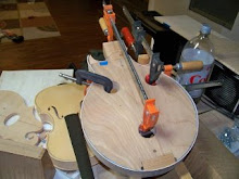 Mandolin Being Camped and Glued