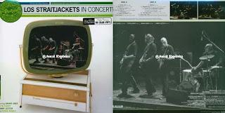 Los Straitjacket In Concert (portada y contraportada del vinilo