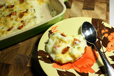 food is luv: mashed potato casserole w/ smoked gouda and bacon