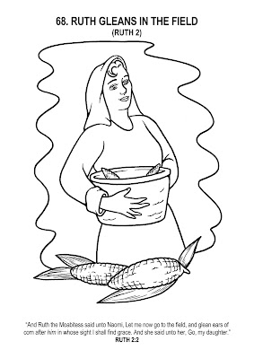 ruth gleaning coloring pages - photo#14