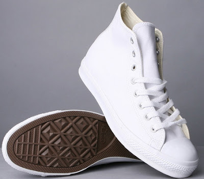 All Star Leather Hi White
