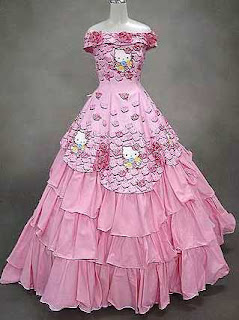 japan hello kitty wedding gown