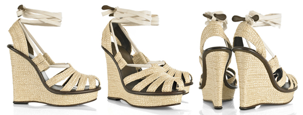 Bottega Veneta Ankle-tie wedge sandals