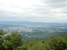 Cheongju From Mountain Fortress Sangdangsanseong