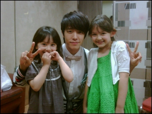Super Junior Donghae and daughters