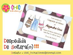 Invitaciones de Despedida de Soltera(o)