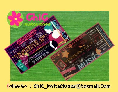 ●●●● Invitacion tipo Ticketmaster