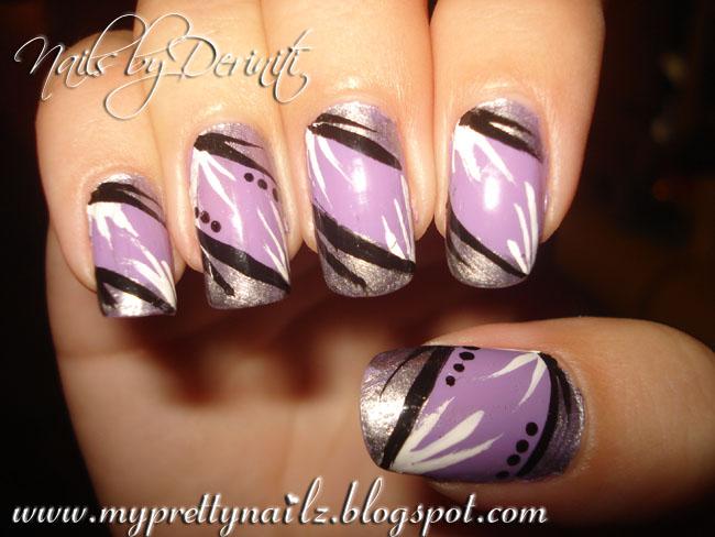 My Pretty Nailz: Kiss Nail Art Paint Tribal Design