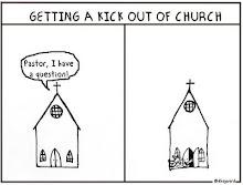 recebendo um chute pra fora da igreja