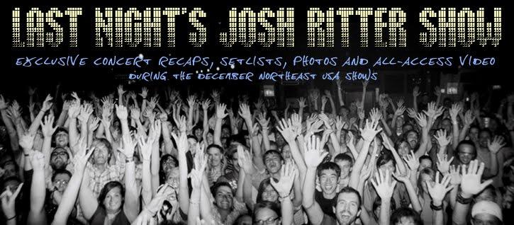 Last Night's Josh Ritter Show