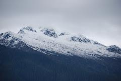 Snow on our mountains, already