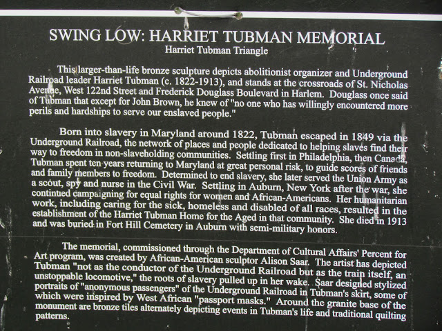 harriet tubman commemorative speech