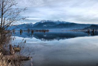 Pitt River, DeBoville Slough, Port Coquitlam, British Columbia, Canada