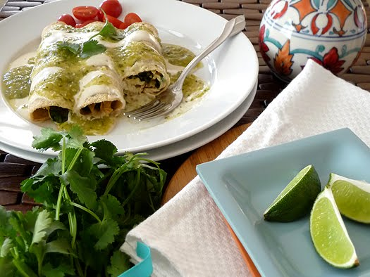 Chicken, Black Bean, and Spinach Enchiladas | Good Life Eats