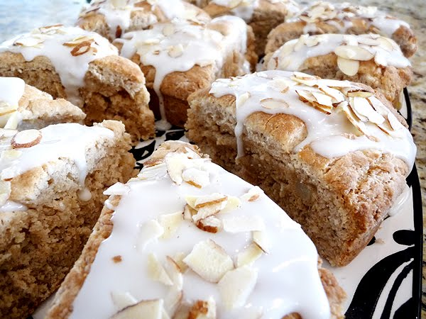 pear scones with honey almond with honey milk glaze low fat strawberry ...