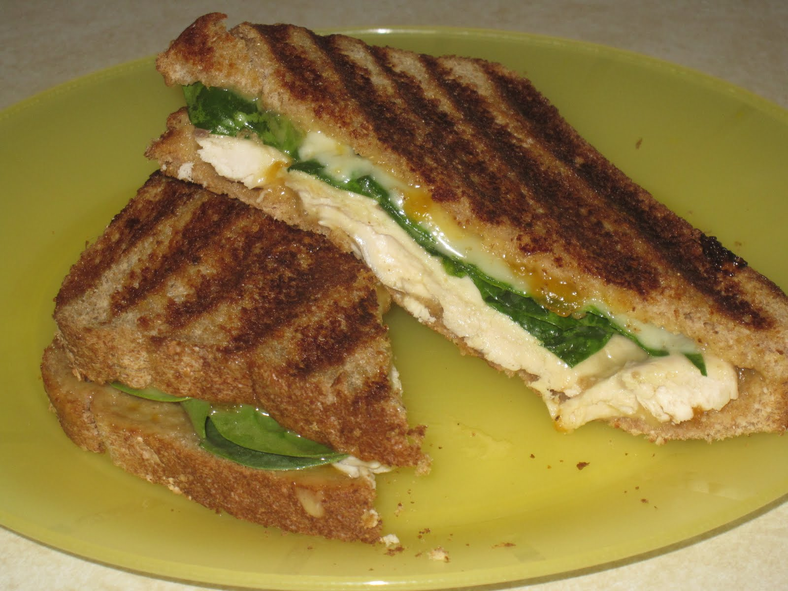 Kim's Recipe Book: Grilled Chicken Sandwich with Apricot Sauce