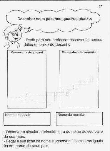 atividades alfabetizacao jardim horta pomar:Meus Trabalhos Pedagógicos ®: Atividades para o Dia dos Pais