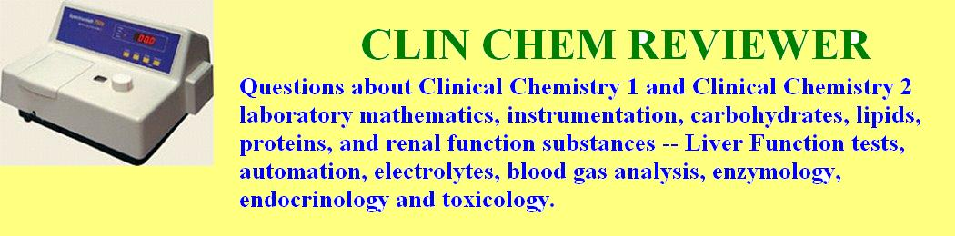 Clinical Chemistry Reviewer