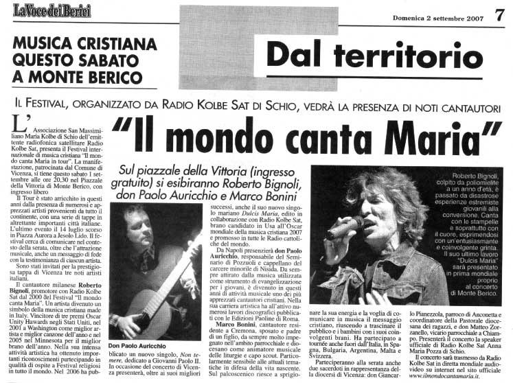 La Voce dei Berici sett.2007